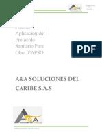 Plan de Aplicacion de Protocolo Sanitario A&A SOLUCIONES