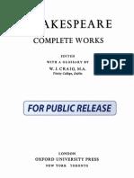 William Shakespeare - Complete Works (Ed. W. J.Craig. 1943)