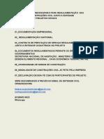 Documentações das empresas