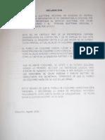 Documentos Presentados por Pedro Velásquez