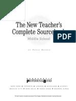 he New Teacher's Complete Sourcebook- Middle School