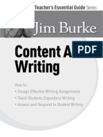 The Teacher's Essential Guide Series- Content Area Writing