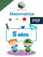 Cuadernillo de Matemáticas para 5 años por Materiales Educativos Maestras