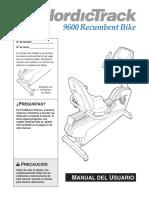 Manual - Bicicleta Recumbert fittness