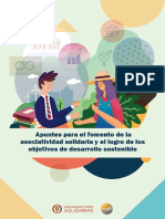 Apuntes para el fomento de la asociatividad solidaria y el logro de los ODS