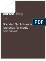 Branded Scribd reader launches for media companies, Scribd Blog, 10.7.09