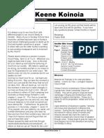 Church Newsletter- March 2011