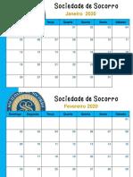 Calendário 2020 Soc Soc