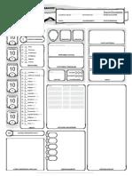 D&D 5e Scheda Personaggio  Compilabile