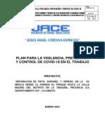 PLAN PARA LA VIGILANCIA, PREVENCIÓN Y CONTROL DE COVID-19 EN EL TRABAJO-TINGUIÑA
