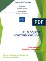 EL BLOQUE DE CONSTITUCIONALIDAD