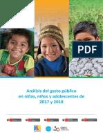 Análisis Del Gasto Público en Niñez y Adolescencia 2017-18