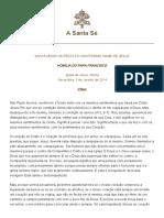 Papa Francesco 20140103 Omelia Santissimo Nome Gesu