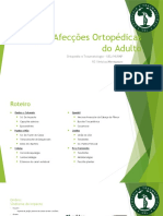 Aula 5 - Principais Afecções Ortopédicas do Aduto