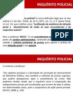 AULA 01 - DIREITO PROCESSO PENAL - INQUÉRITO POLICIAL (1)