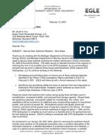 ELGE letter about Kalamazoo River sediment buildup