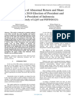Comparison of Abnormal Return and Share Liquidity in 2019 Election of President and Vice President of Indonesia (Event Study of LQ45 and PEFINDO25)