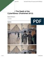 Morozov - The Death of the Cyberflâneur (2012)