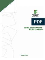 Edital 26 2019 PROPPI Fluxo Continuo