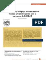 Educación medica-un reto COVID-19