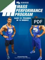 Mass Performance Program