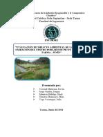 Informe de Laguna de Oxidacion de Picoy