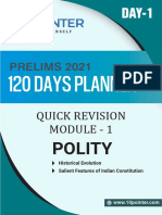 Day 1 Quick Revision Polity 120 Days Upsc Perlims 2021 10pointer