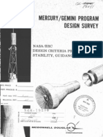 Mercury Gemini Program Design Survey. NASA ERC Design Criteria Program Stability, Guidance and Control