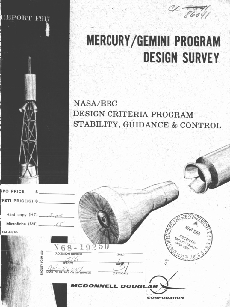 Mercury Gemini Program Design Survey Nasa Erc Criteria Circuit Description Schematic Page 3 Pitchreference Oscillator And Stability Guidance Control Reaction System Project