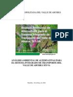 UPB_Análisis Ambiental Alternativas SIT-VA