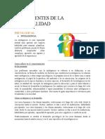 COMPONENTES DE LA PERSONALIDAD.