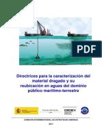 Directrices para la caracterización del material dragado y su  reubicación en aguas del dominio público marítimo-terrestre