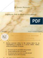 Banking Service Recovery and Role of bank employees