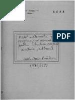 CCUB -  Optimizare, Repartitii optime, Simulare - 1986