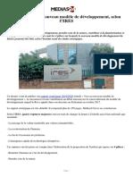 Les 4 piliers du nouveau modèle de développement, selon l_IRES (1)