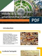 histoire urbanisme et architecture