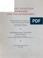 Ancient Egyptian Epigraphy and Paleography