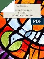 J. Gonzalez Arintero - Notre édification d'après  les Pères