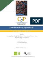 Reseña de J. Gervini Del Libro - Qué Es El Peronismo, De a. Grimson