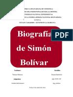 Biografia de Simon Bolivar listo