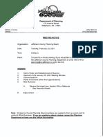 Jefferson County Planning Board agenda Feb. 23, 2021