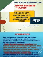 SESION No. 2 - Influencia de la mineralogia en propied. geotec. de suelos