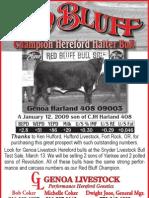 Genoa Livestock Red Bluff Champion Bull