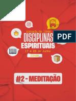 DISCIPLINA ESPIRITUAL - MEDITACAO - #2