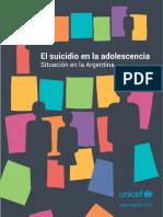UNICEF. El suicidio en la adolescencia. Situación en la Argentina