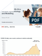 Update on COVID-19 in Canada, Projections –Feb 19 2021