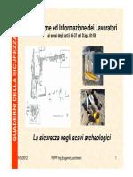 La sicurezza negli scavi archeologici - Lucchesini - 2011 - SLIDES