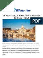 CE POȚI FACE LA ROMA Blue Air