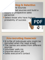 Recruiting & Selecting Sales Personnel
