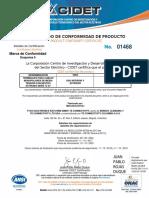 certificado terminal premoldeado